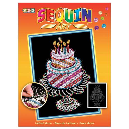 Sequin Art Ltd. Sequin Art Orange Birthday Cake 1506