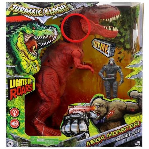 Jurassic Clash! Mega Monster Red T-rex