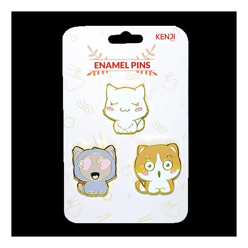Kenji Enamel Pins  - Cat Queue