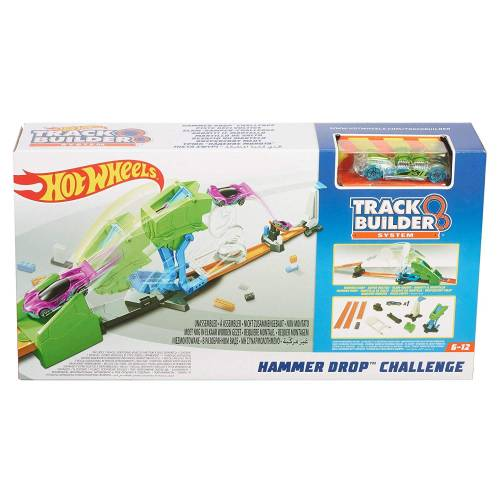 Hot Wheels Track Builder Hammer Drop Challenge