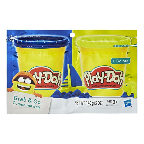 Play-Doh Grab & Go Compound Bag - Blue & Yellow