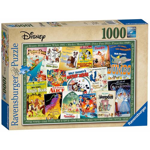 Ravensburger 1000pc Disney Vintage Movie Posters Jigsaw Puzzle