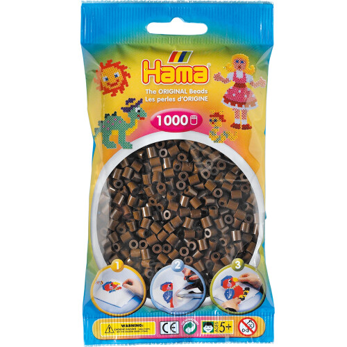 Hama Beads 207-12 Brown