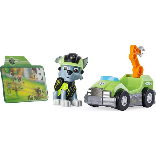 Paw Patrol Mission Paw Pup with Mini Vehicle - Rocky