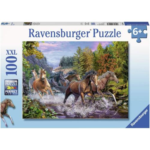 Ravensburger 100 XXL Piece Puzzle Rushing River Horses
