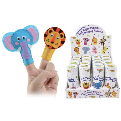 Kreative Kids - Felt Finger & Hanging Animals - Assorted