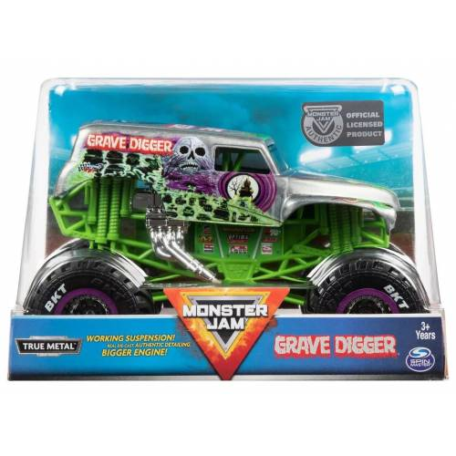 Monster Jam - 1:24 Scale - Grave Digger (Silver)