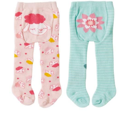 Baby Annabell Tights - Flower & Lamb
