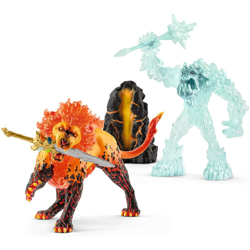 Schleich Eldrador 42455 Battle for the Superweapon Frost Monster vs Fire Lion