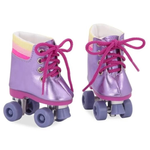 Our Generation Shoes Rainbow Rollers