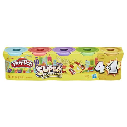 Play-Doh Super Gold Pack of 5 Cans