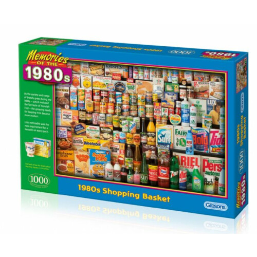 Gibsons 1980s Shopping Basket 1000pc Puzzle