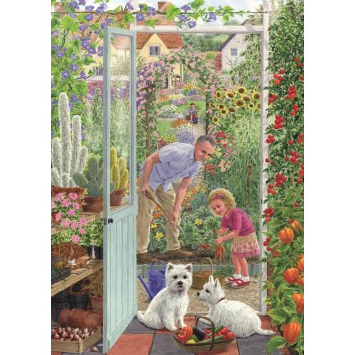 Falcon de luxe Through the Greenhouse Door 500pc Jigsaw Puzzle