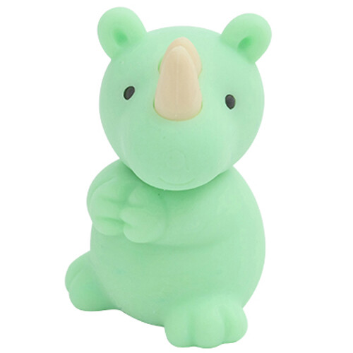 Iwako Puzzle Eraser - Wild Animals - Rhinoceros (Green)