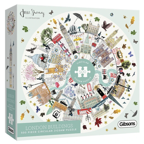Gibsons London Buildings Circular 500pc Puzzle
