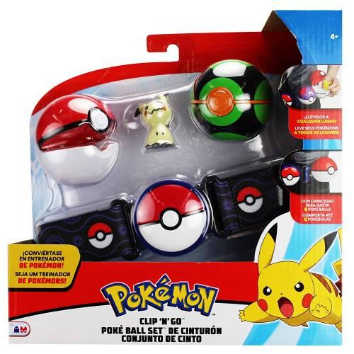 Pokemon Clip 'n' Go Pokeball Belt Set - Mimikyu