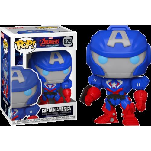 Funko Pop Vinyl - Iron Man - Avengers Mechstrike - Captain America 829