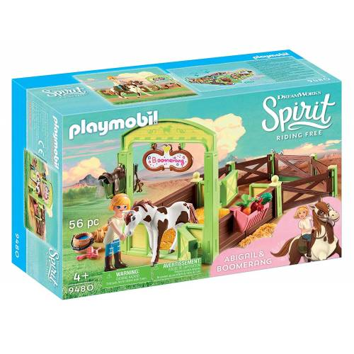 Playmobil Spirit 9480 Abigail & Boomerang Horse Stall
