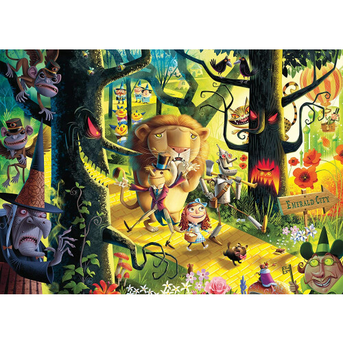 Ravensburger 1000pc Puzzle Lions, Tigers and Bears, Oh My! Wizard of Oz