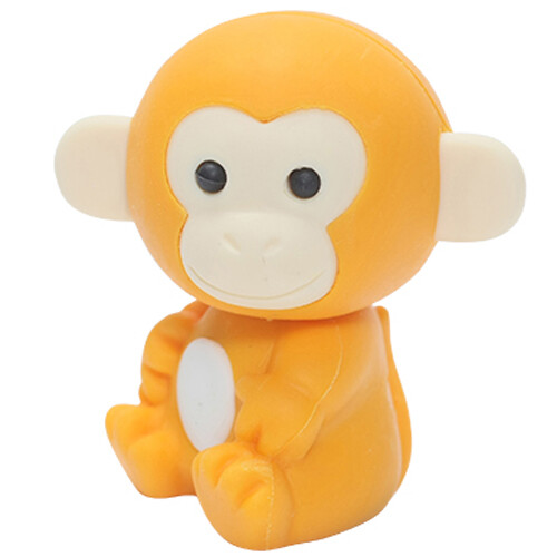 Iwako Puzzle Eraser - Forest Animals - Monkey (Orange)