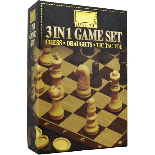 Traditional Games - 3 in 1 Game Set