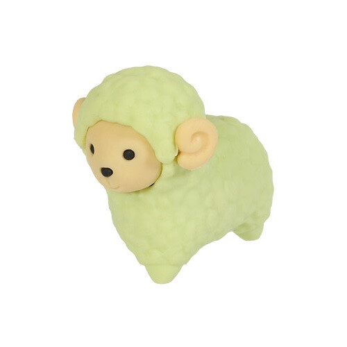 Iwako Puzzle Eraser - Sheep and Alpaca - Sheep (Green)
