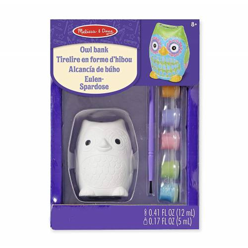 Melissa & Doug Decorate Your Own Owl Bank