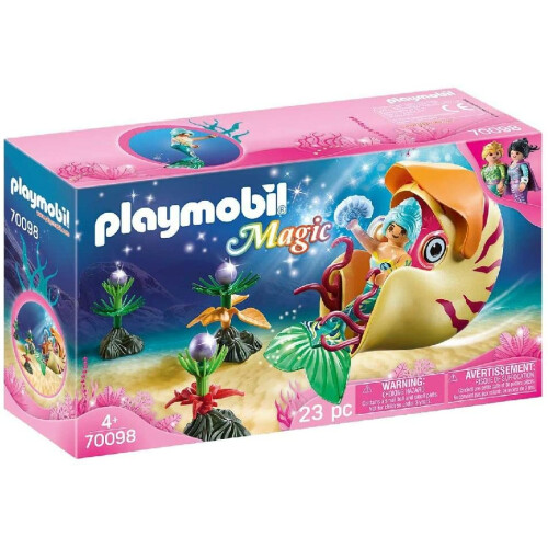 Playmobil 70098 Magic Mermaid with Sea Snail Gondola