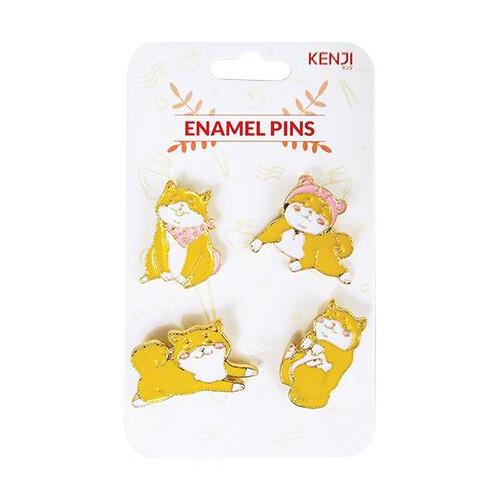 Kenji Enamel Pins - Shiba