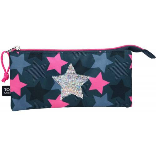 Depesche Top Model Soft Pencil Case with Compartments, Stars