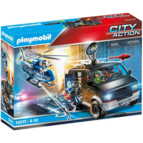 Playmobil  70575 City Action Police Helicopter Pursuit with Runaway Van