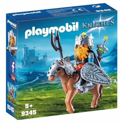 Playmobil 9345 Knights Dwarf Fighter with Pony