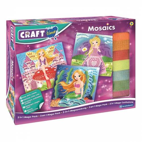 Craft Time Mosaics - 3 in 1 Mega Pack