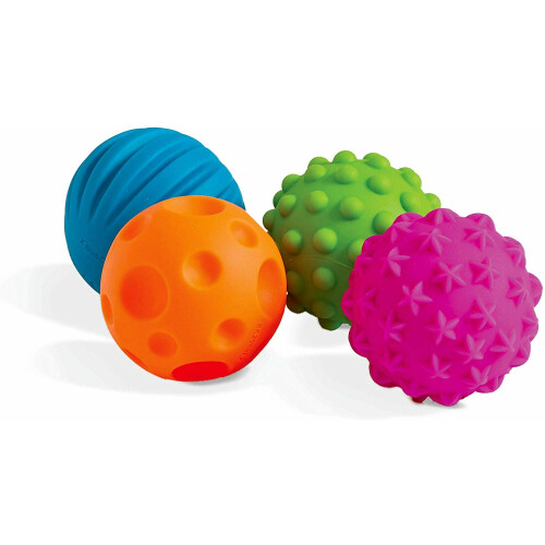 Halilit - Textured Mini Balls (Assorted Colours & Shapes)