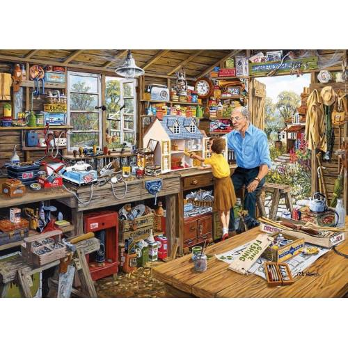 Gibsons Grandad's Workshop 1000pc