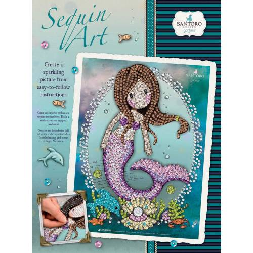 Sequin Art Limited.Sequin Art Gorjuss So Nice To Sea You 1808
