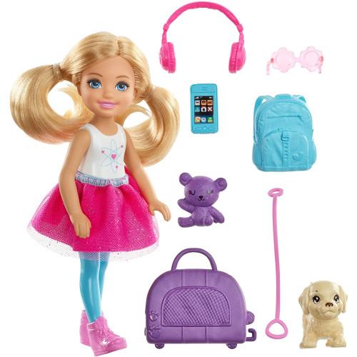 Barbie Club Chelsea Doll & Travel Set