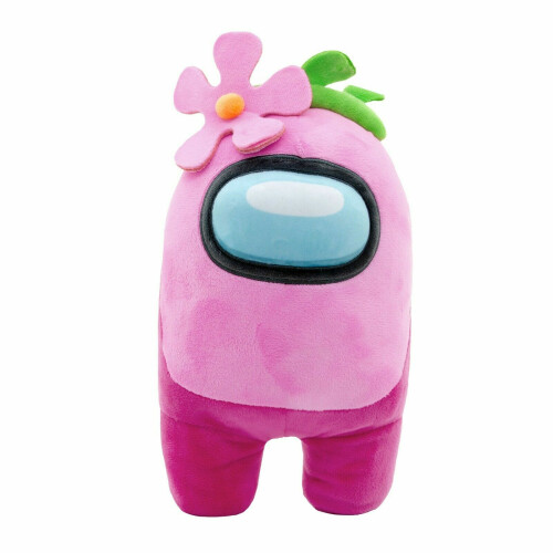 Among Us 12 Inch Plush - Pink with Flower