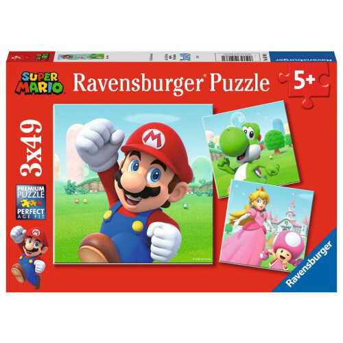 Ravensburger 3 x 49pc Puzzles Super Mario