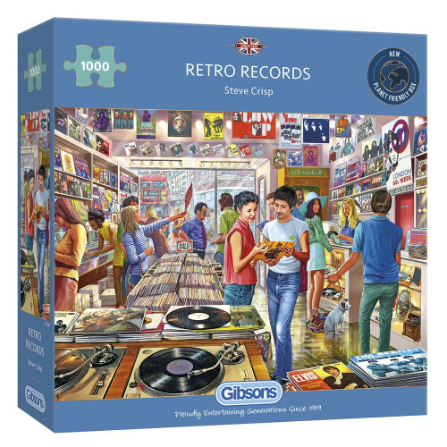 Gibsons Retro Records 1000pc Puzzle