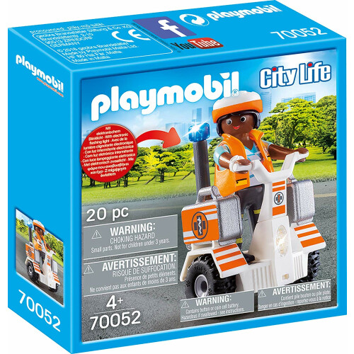 Playmobil 70052 City Life Rescue Balance Racer