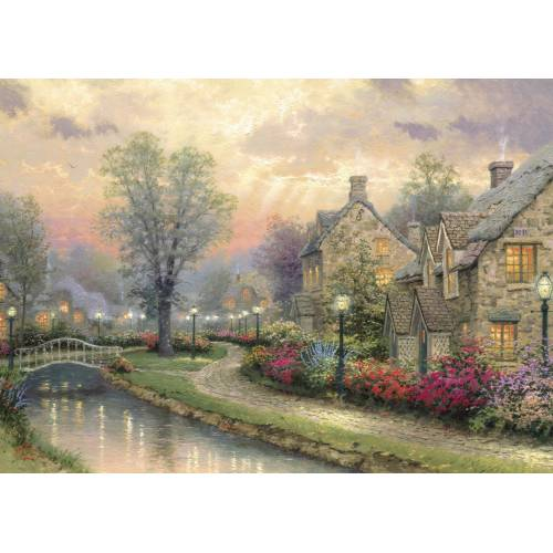 Gibsons Thomas Kinkade Lamplight Lane 1000pc
