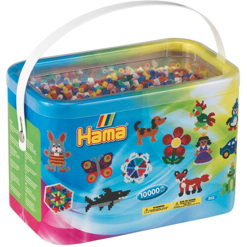 Hama Beads 202-00 10000 Beads in a Bucket
