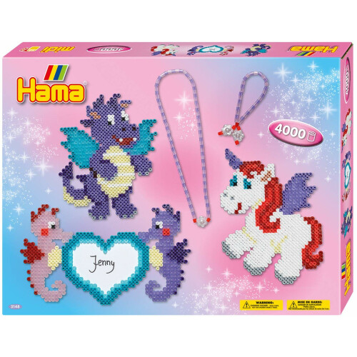 Hama Beads 3148 Large Gift Box Dragon & Friends
