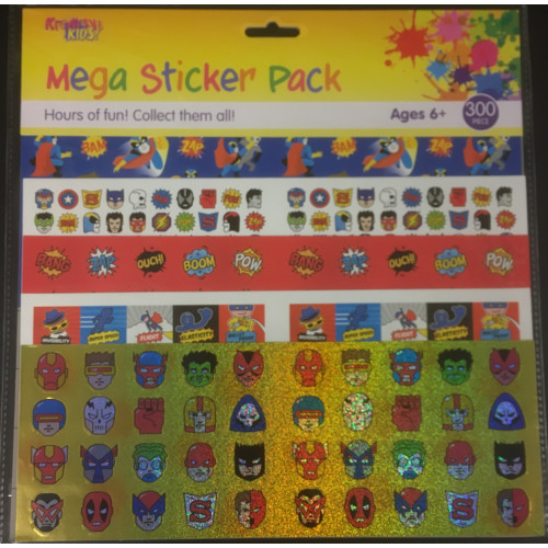 Mega Sticker Pack - Superheroes
