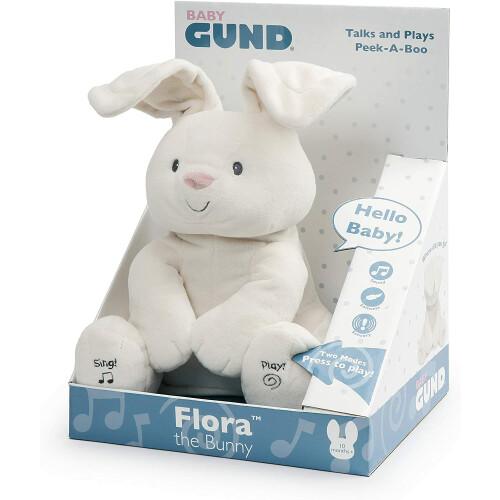 Gund Talks and Plays - Peek-A-Boo Flora the Bunny