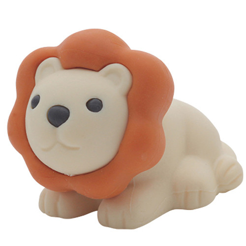 Iwako Puzzle Eraser - Safari - Lion (White)