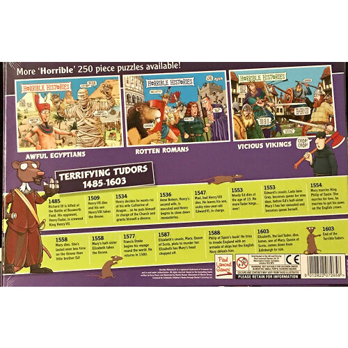Horrible Histories - Terrifying Tudors 250pc Puzzle