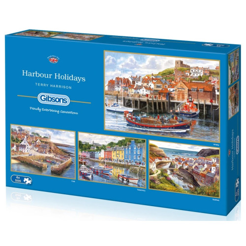 Gibsons Harbour Holidays 4x 500pc Puzzles