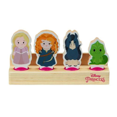 Disney Princess Wooden 4 Figure Set - Merida & Angus, Rapunzel & Pascal